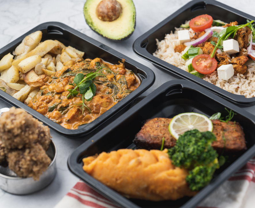 array of healthy dishes from clean cut meals